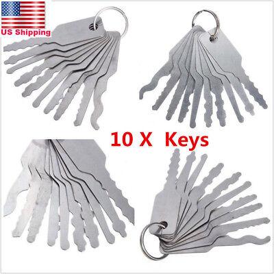 10x Universal Car Auto Lock Out Emergency Kit Door Open Easy Unlock Keys Tools