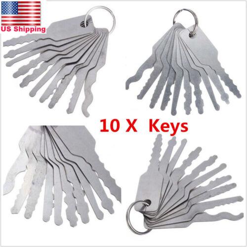 Car Parts - 10x Universal Car Auto Lock Out Emergency Kit Door Open Easy Unlock Keys Tools