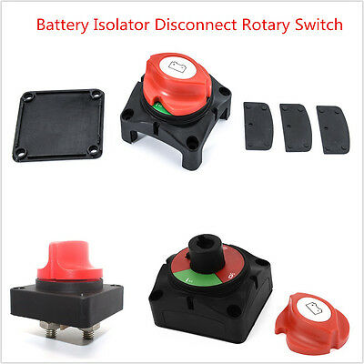 Car Marine Boat RV Battery Selector Isolator Disconnect Rotary Switch Cut On/Off