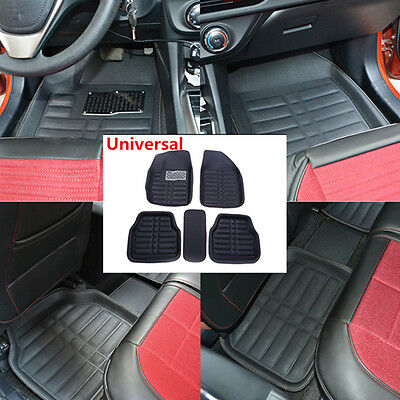 5pc Car Floor Mats FloorLiner Front Rear Carpet Black All Weather Mat Universal