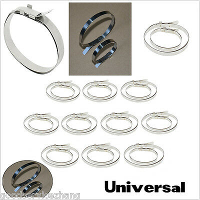Universal 10 sets of Stainless Steel Drive Shaft Axle Boot CV Joint Boot Clamps
