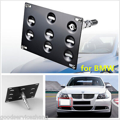 Bmw Tow Hook - Front Bumper Tow Hook License Plate Mounting Bracket Holder For BMW 1 3 X5 X6