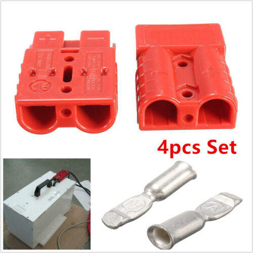 4Pcs Car Batteries Quick Connector Plug 50A 8AWG Electric Connect Winch Trailer