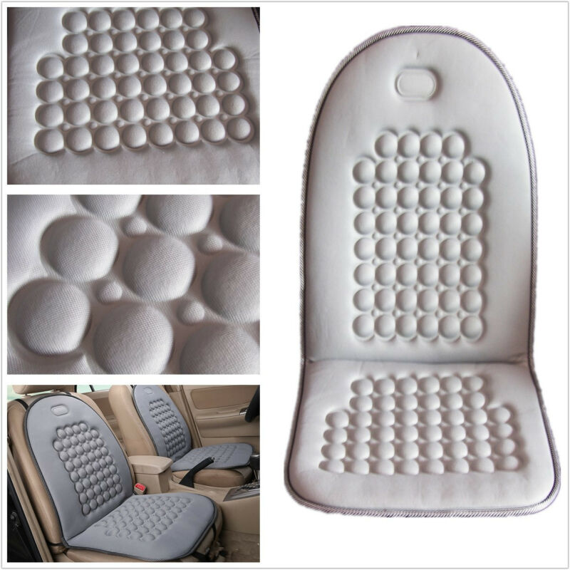 1 PC Comfortable Grey Car Pickup Seat Massage Cover Cushion Reduces Aches/Pains
