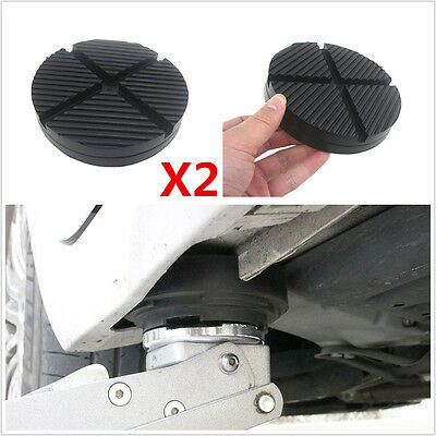 Universal 2x Cross Slotted Frame Rail Floor Jack Disk Rubber Pad Adapter JACKPAD