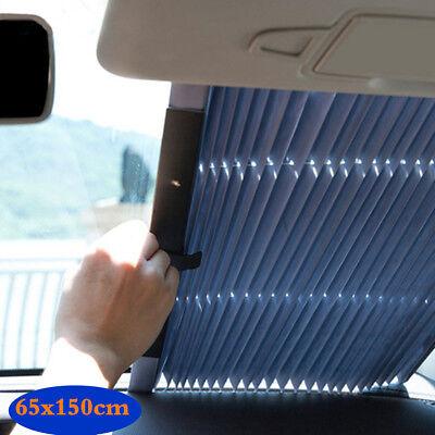 Auto Shade Car Retractable Curtain UV Protection Front Windshield Sun Visor
