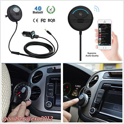 Bluetooth Handsfree Car Kit On Car Air Vent AUX LED Charger Noise Cancelling Kit