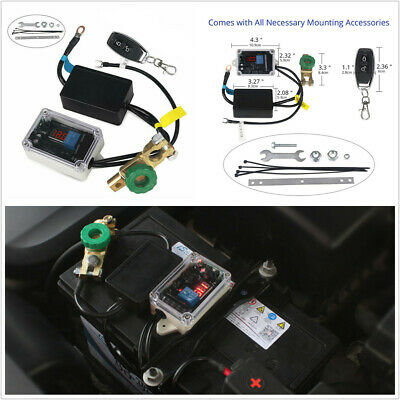 Car Truck 12V Battery Isolator Disconnect Cut Off Wireless Remote Control Switch