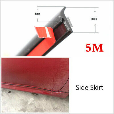 Inclined T-shape 5M Weatherstrip Car Headlight/Side Skirt Trim Seal Strip Rubber