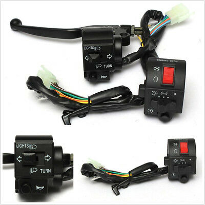 "2 X 7/8"" 22mm Motorcycle ATV Handlebar Horn Turn Signal Electrical Start Switch"