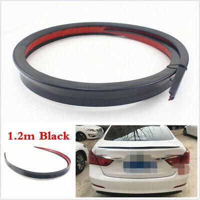120cm Universal Black PU Car Rear Roof Trunk Boot Spoiler Wing Lip Trim Body Kit