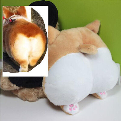 22cm/9 inch 3D Lovely Cute and soft Pet Dog Buttocks Headrest Seat Neck Cushion Extreme 8 Inch Heel