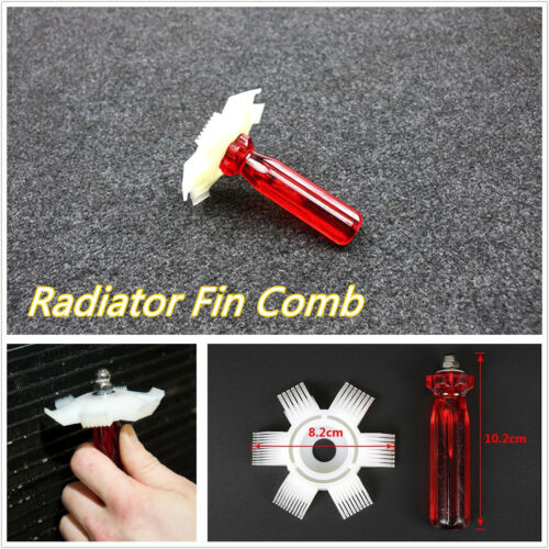 DIY Car Offroad A/C Condenser Radiator Fin Straightener Cleaner Comb Handle Tool