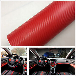 car suv interior handle console red carbon fiber wrap vinyl film decal sticker ebay. Black Bedroom Furniture Sets. Home Design Ideas