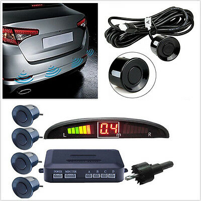 Car SUV Reverse Radar Rear 4 Sensors Audio Alarm Sound Alert Alarm System