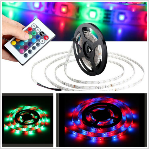New 5M 300 LED 3528 SMD RGB Car Strip Light Interior Decorative Remote Control