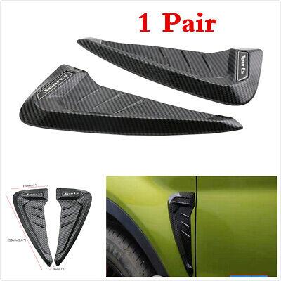 Universal 2Pcs Car Blade Side Wing Sticker Air Vent Cover Trim 3D Carbon Fiber
