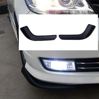 2 Pcs Car Front Shovel Black ABS Plastic Spoiler Bumper Resistant Wing modified