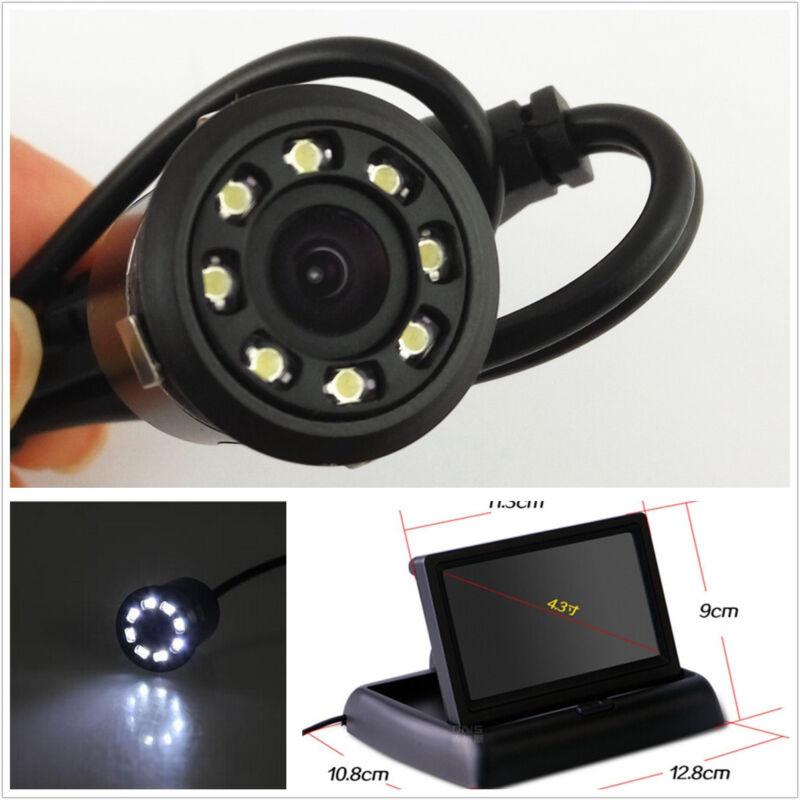 Waterproof 8LED Car CCD Reverse Parking Camera&4.3