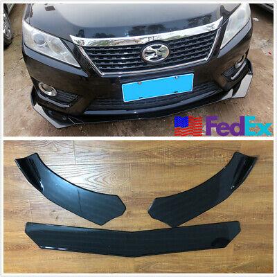 3 Pcs Car Front Bumper Lip Body Kit Spllitter Spoiler Adjustable Angle US Stock