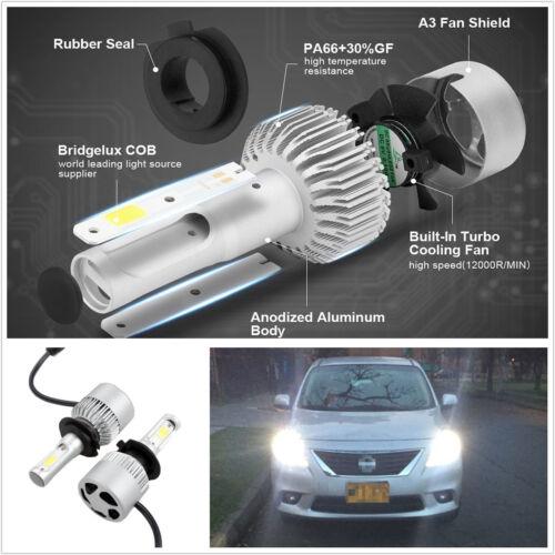 2 Pcs Waterproof 6500K H7 LED COB Car Headlights Conversion Cree Kit Plug & Play