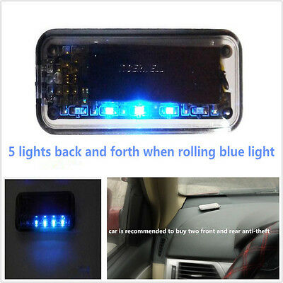 6Led Solar Energy Car Suv Security Solar Energy Warning Theft Flash Sensor Light