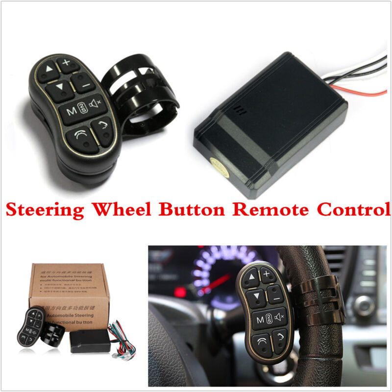 New 7 Keys Wireless Car Steering Wheel Button Remote Control For Stereo DVD GPS