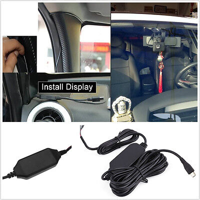 5Pcs/Set 12V To 5V Hard Wire Cable 3.5M Mini USB Adapter For Car Dash Camera GPS S600 Usb Cable