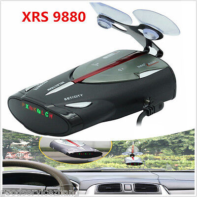NEW 16-Band Radar Detector XRS 9880 Laser Anti Radar Detectors 360 Led display