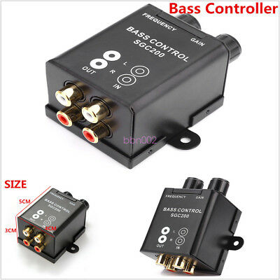 Car RCA Remote Level Amplifier Subwoofer Equalizer Crossover Bass Controller Kit