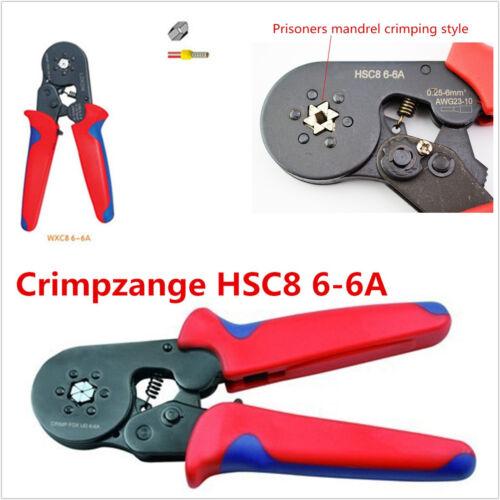 Self Adjusting Car Off-Road HSC8 6-6A 0.25-6mm² Terminal Crimping Tool AWG 23-10