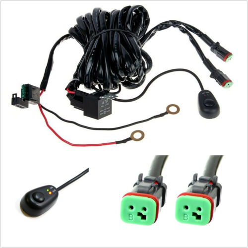 DC14V 2M 2 Lead 360W 40A Vehicle LED Work Light Bar Wiring Harness ON/OFF Switch
