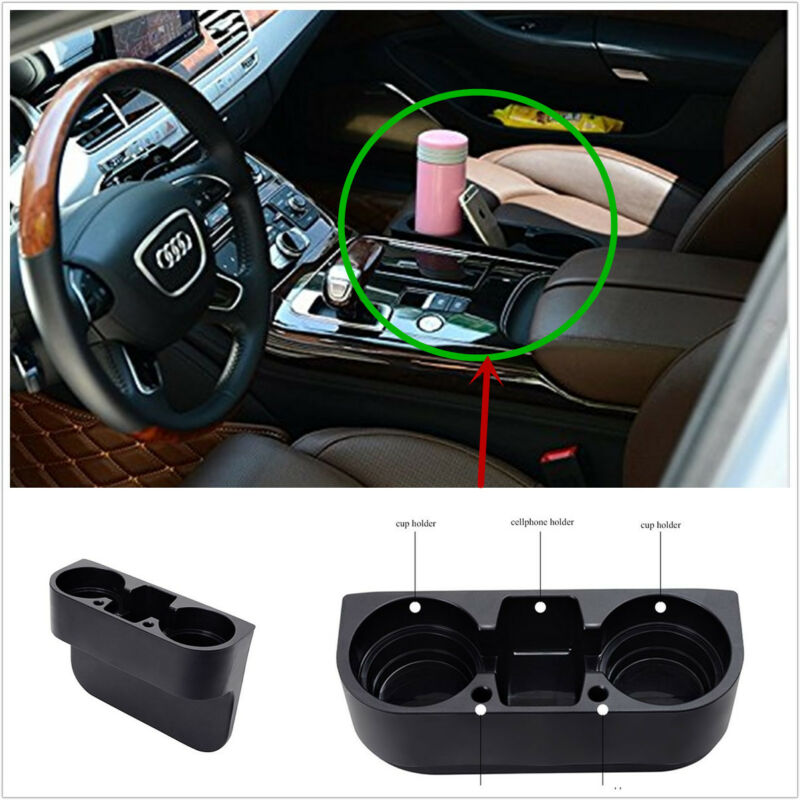 Multi-function Black Car Van Storage Drinking Bottle Cup Mug Mount Holder Stand