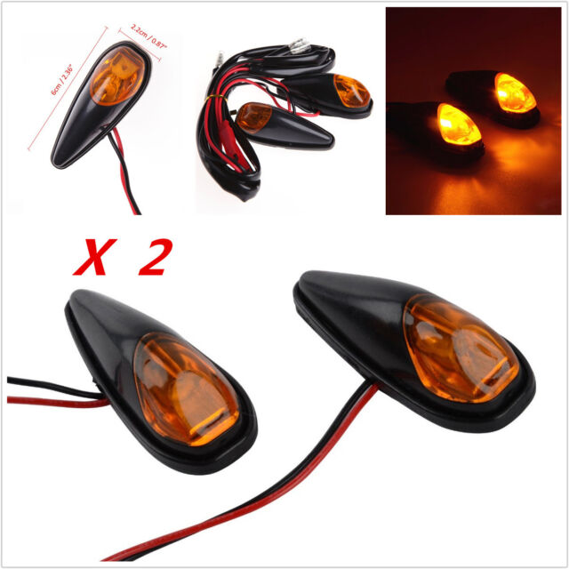2 12v Motorcycle Flush Mount LED Turn Signal Light Blinker