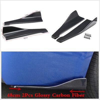 2X 48cm Car Bumper Body Side Splitters Spoiler Wing Rear Lip Diffuser Guard Kits
