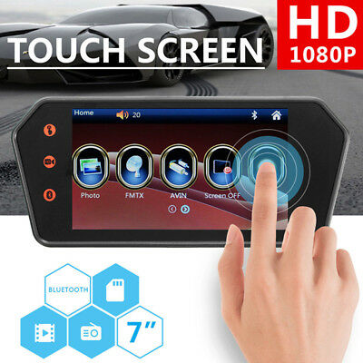7'' Touch Screen HD LCD Bluetooth Reversing Camera Car Rear View Parking Monitor