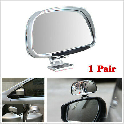 180 Degree Adjustable Blind Spot Mirror Car Side Wing Rear View Mirros 2X Silver