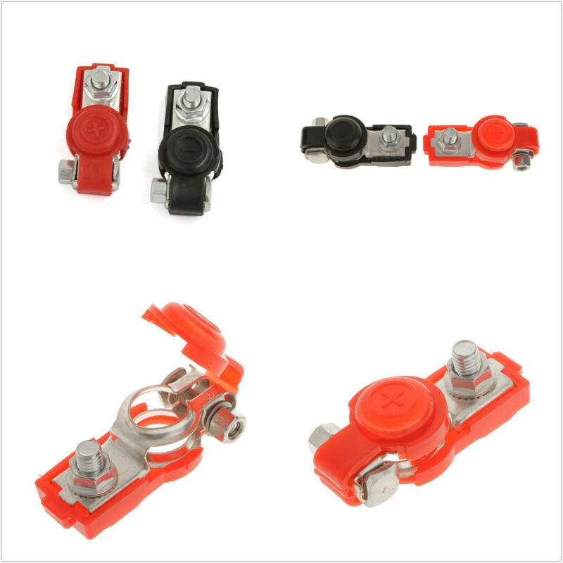 2in1 Adjustable 6V/12V Car SUV Battery Terminal Clamp Clips Positive & Negative