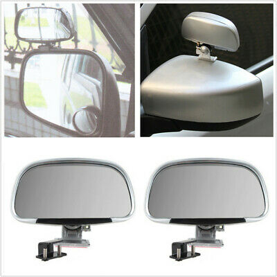 2 Pack Clip-on Car Adjustable Blind Spot Mirrors Wing Rear View External Mirror