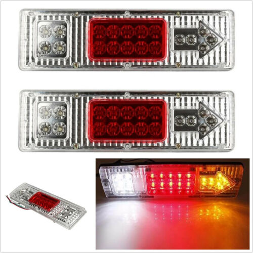 2 X 12V 19LED Car Truck Rear Tail Stop Reverse Indicator Light Strips Waterproof