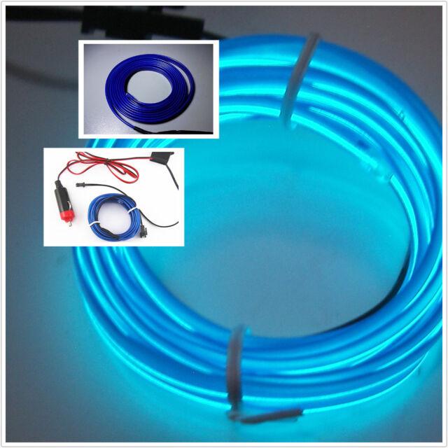 2m Car Atmosphere Ambient Lights Unique Decor Blue Cold Light Lamp ...