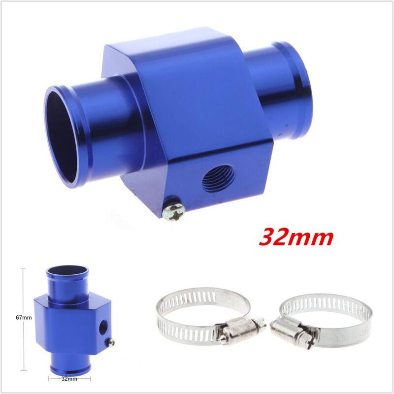 Universal 32mm Water Temp Joint Pipe Sensor Gauge Radiator Hose Temperature Blue