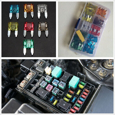 120 Pcs Durable Universal Automobile Small Size Blade Fuse 7 Kinds AMP & Box Kit