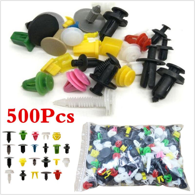 500P Car Body Plastic Push Pin Rivet Door Trim Panel Clip Fasteners Assmortments