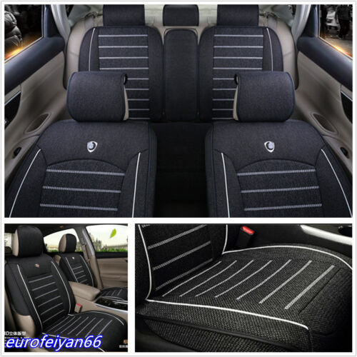 Black Linen Fabric Sedans Vehicle Styling Accessories Seat Covers & Supports Mat