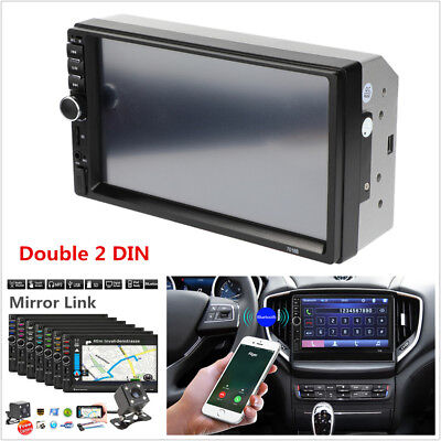 """7"""" HD Car Stereo Radio Double 2 DIN Bluetooth MP5 Player M AUX+ Rear View Camera for sale  China"""