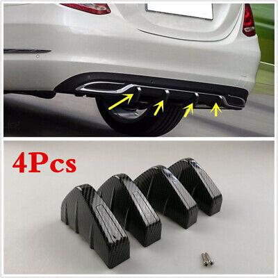 Rear Bumper Diffuser Fin Spoiler Lip Wing Splitter Universal Carbon Fiber 4PCS