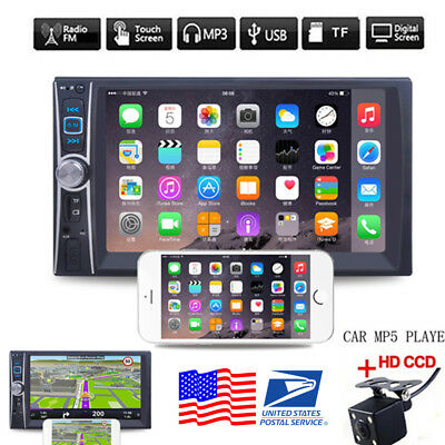 """7"""" 2DIN Car MP5 Player Bluetooth MP3/MP4/Audio/Video/USB Rearview+Camera"""