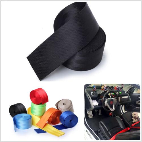 Polyeste Fiber Black Autos Front Adjustable Retractable Safety Seat Belt 3-Point