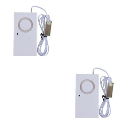 2-Pack Water Liquid Leak Leakage Detection Detector Sound Alarm Sensor